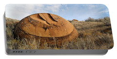 Red Rock Coulee I Portable Battery Charger by Leanna Lomanski