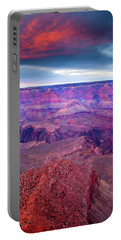 Red Rock Dusk Portable Battery Charger by Mike  Dawson