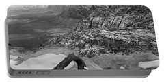 Portable Battery Charger featuring the photograph Red Rock Winter by Alan Socolik
