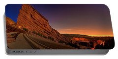 Red Rocks Amphitheatre At Night Portable Battery Charger