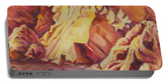 Portable Battery Charger featuring the painting Red Rocks by Michele Myers