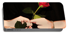 Red Rose By Jan Marvin Studios Portable Battery Charger