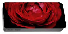 Portable Battery Charger featuring the photograph Red Rose by Charlotte Schafer