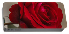 Red Rose Portable Battery Charger by Jane Luxton