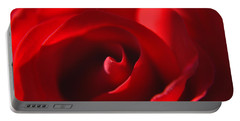 Portable Battery Charger featuring the photograph Red Rose by Tikvah's Hope