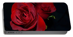 Red Roses For A Blue Lady Portable Battery Charger