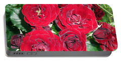 Portable Battery Charger featuring the photograph Red Roses by Vesna Martinjak
