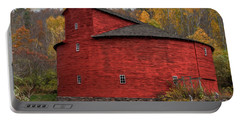 Red Round Barn Portable Battery Charger
