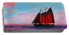 Red Sails On The Chesapeake - New Multimedia Acrylic/oil Painting Portable Battery Charger
