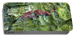 Portable Battery Charger featuring the photograph Red Salmon In Steep Creek by Cathy Mahnke