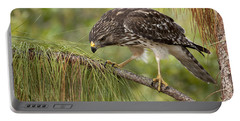 Red Shouldered Hawk Photo Portable Battery Charger