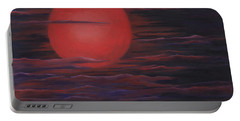 Red Sky A Night Portable Battery Charger by Michelle Joseph-Long