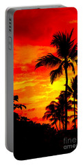 Portable Battery Charger featuring the photograph Red Sky At Night by David Lawson