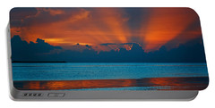 Tropical Florida Keys Red Sky At Night Portable Battery Charger