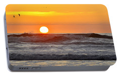 Portable Battery Charger featuring the photograph Red Sky At Night Sailors  Delight by AJ  Schibig