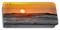 Red Sky At Night Sailors  Delight Portable Battery Charger