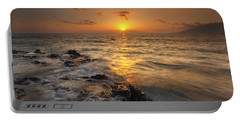 Red Sky In Paradise Portable Battery Charger