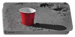 Red Solo Cup Portable Battery Charger by Trish Tritz