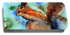 Red Squirrel  Portable Battery Charger by Trudi Doyle