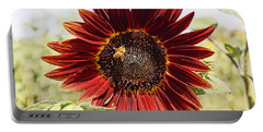 Red Sunflower And Bee Portable Battery Charger