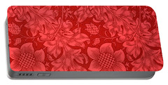 Red Sunflower Wallpaper Design, 1879 Portable Battery Charger