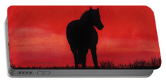 Red Sunset Horse Portable Battery Charger