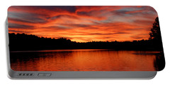 Red Sunset Reflections Portable Battery Charger