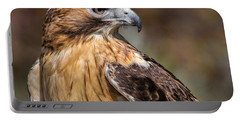 Red Tail Hawk Portable Battery Charger by Dale Kincaid
