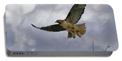 Red Tail Hawk Digital Freehand Painting 1 Portable Battery Charger