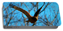 Portable Battery Charger featuring the photograph Red Tail Hawk In Flight by Peggy Franz