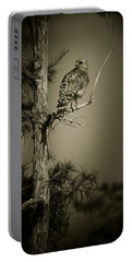 Red Tail Hawk On Loop Road Portable Battery Charger