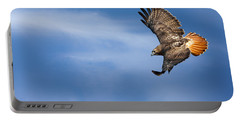 Red Tailed Hawk Soaring Portable Battery Charger
