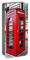 Red Telephone Box Call Box In London Portable Battery Charger