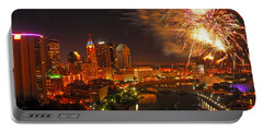 Red White And Boom Photo Portable Battery Charger