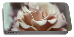 Portable Battery Charger featuring the photograph Red White Rose by Jean OKeeffe Macro Abundance Art