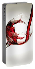Red Wine Pouring Into A Glass Portable Battery Charger
