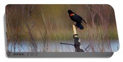 Red Winged Blackbird 2 Portable Battery Charger