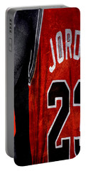 Portable Battery Charger featuring the digital art Red Wrist Band by Brian Reaves