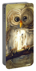 Redbird Cottage Owl Portable Battery Charger