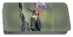 Redbud With Woodpecker Portable Battery Charger
