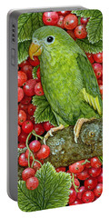 Redcurrant Parakeet Portable Battery Charger by Ditz
