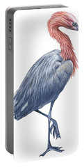 Reddish Egret Portable Battery Charger by Anonymous