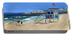 Redondo Beach Lifeguard  Portable Battery Charger by Jamie Frier