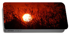 Portable Battery Charger featuring the photograph Redorange Sunset by Matt Harang