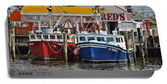 Portable Battery Charger featuring the photograph Reds Lobster Pot by Gary Keesler