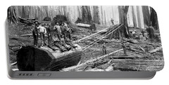 Redwood Logging Crew C. 1890 Portable Battery Charger
