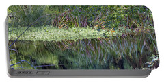 Portable Battery Charger featuring the photograph Reed Reflections by Kate Brown