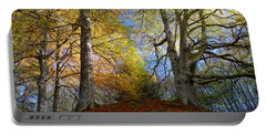 Portable Battery Charger featuring the photograph Reelig Forest  by Gavin Macrae