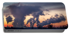 Portable Battery Charger featuring the photograph Flint Hills Resources Pine Bend Refinery by Patti Deters