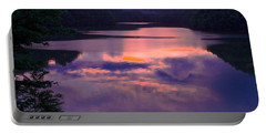 Reflected Sunset Portable Battery Charger by Tom Culver